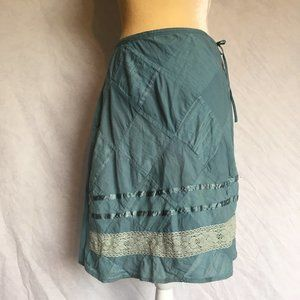 Funky People 100% Cotton Teal Skirt